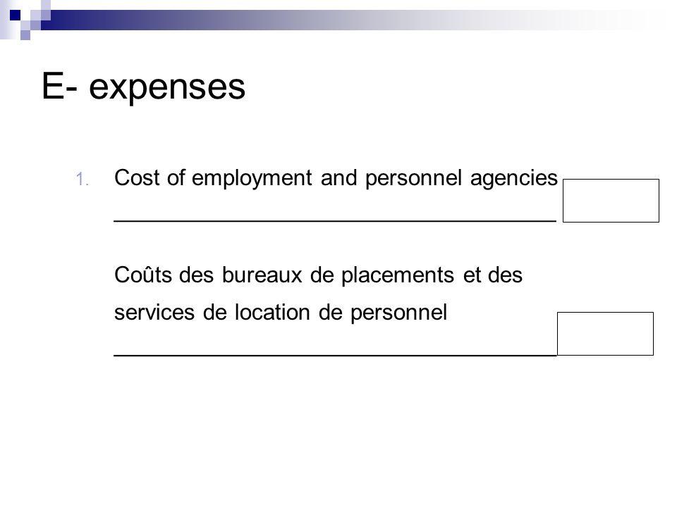 E- expenses 1.