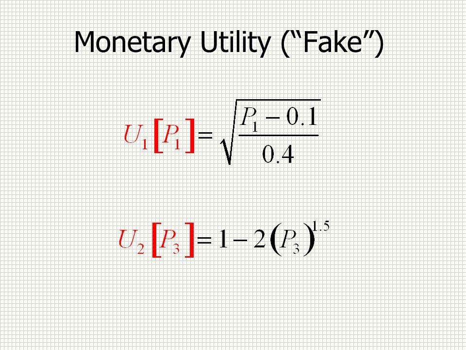 Monetary Utility (Fake)