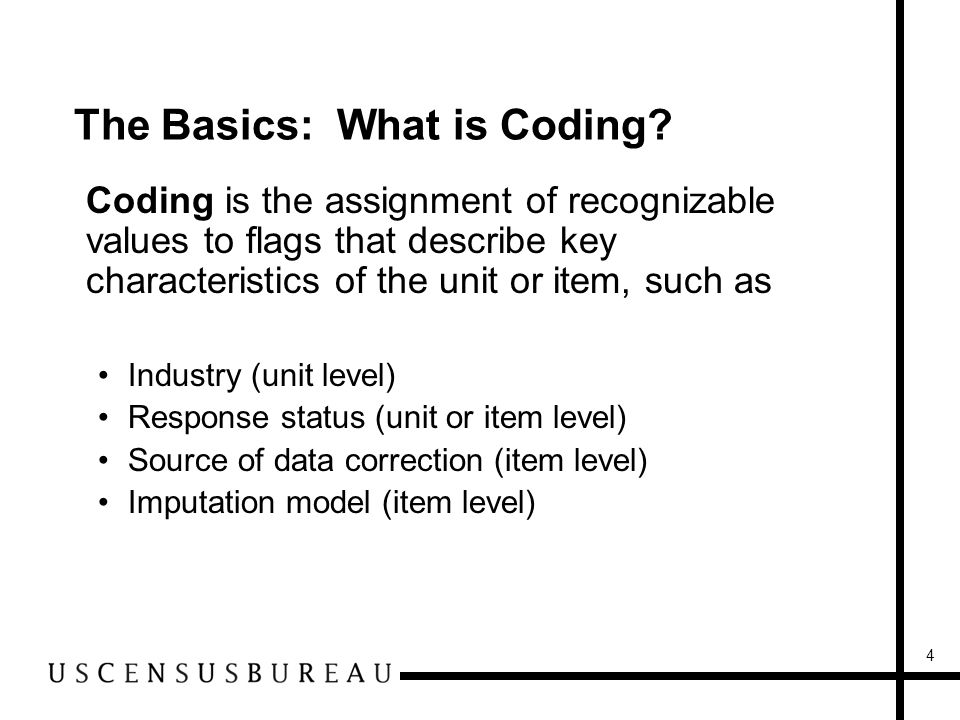 4 The Basics: What is Coding.