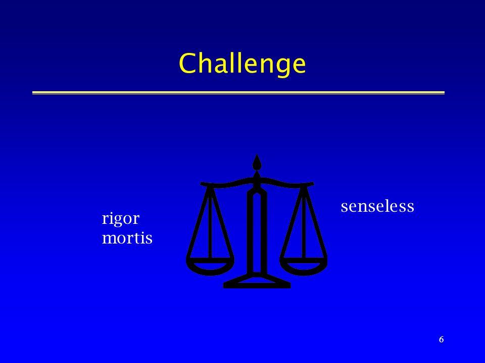 6 Challenge senseless rigor mortis