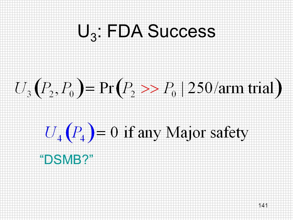 141 U 3 : FDA Success DSMB?