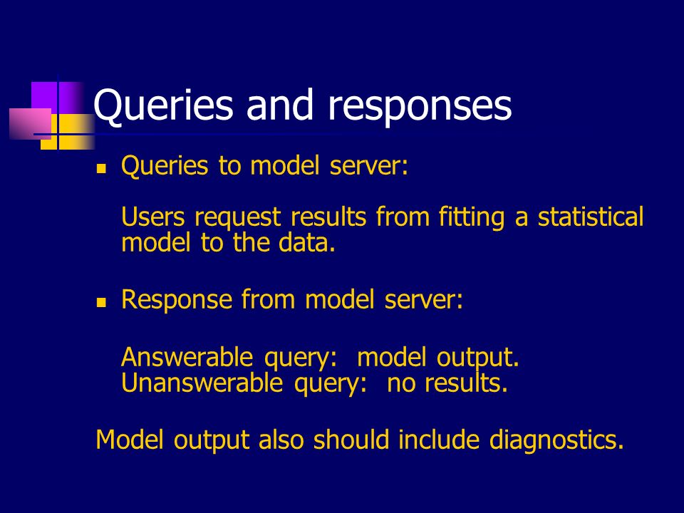 Challenges in developing model servers Non-statistical: Operation costs, server security, etc.