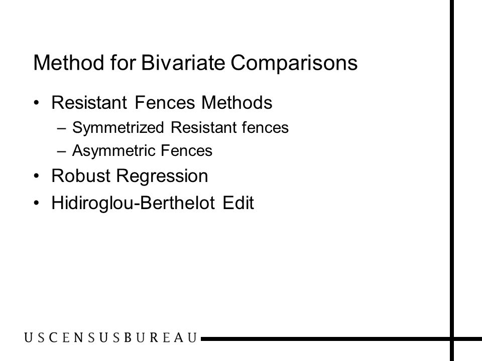 Bivariate Comparisons (Current Cell Ratios) Linear relationship between payroll and employment No intercept