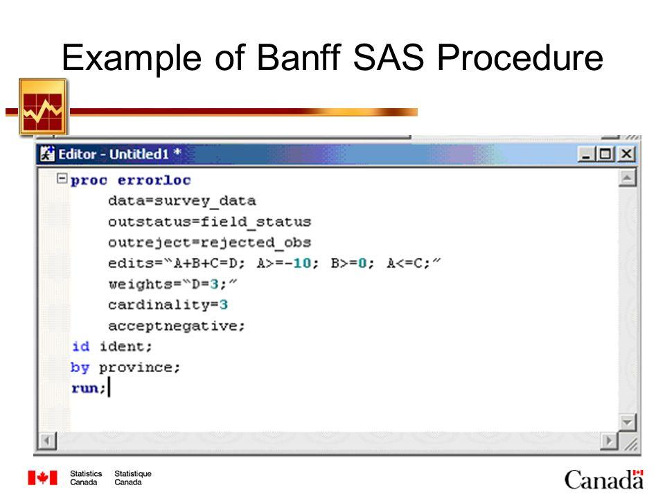 Example of Banff SAS Procedure