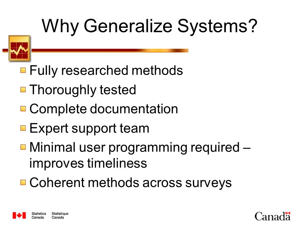 Why Generalize Systems.