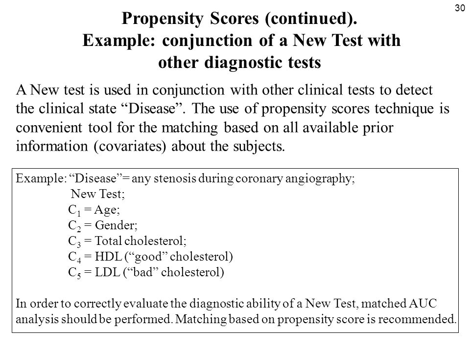 30 Propensity Scores (continued).