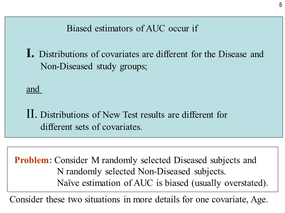 6 I.Different Age distributions in Diseased and Non-Diseased study groups.
