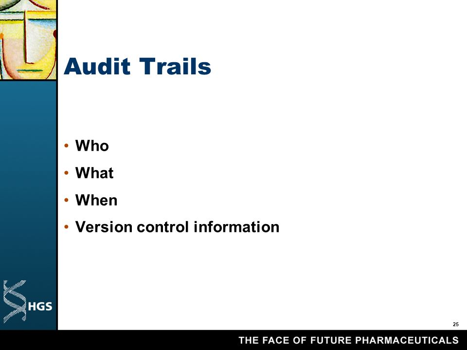 25 Audit Trails Who What When Version control information