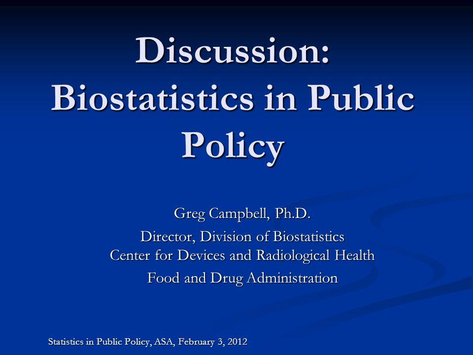 Outline Biostatisticians Biostatisticians FDA Advisory Committees FDA Advisory Committees Guidance Documents Guidance Documents Statistical Research Statistical Research Biostatistician Roles Biostatistician Roles 2