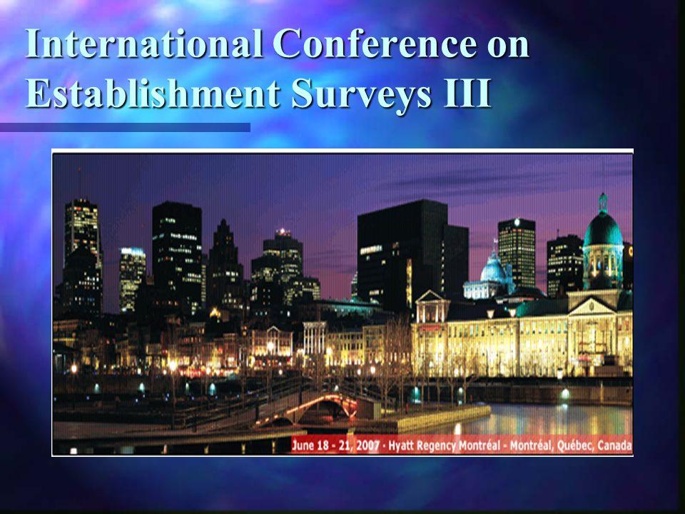 International Conference on Establishment Surveys III
