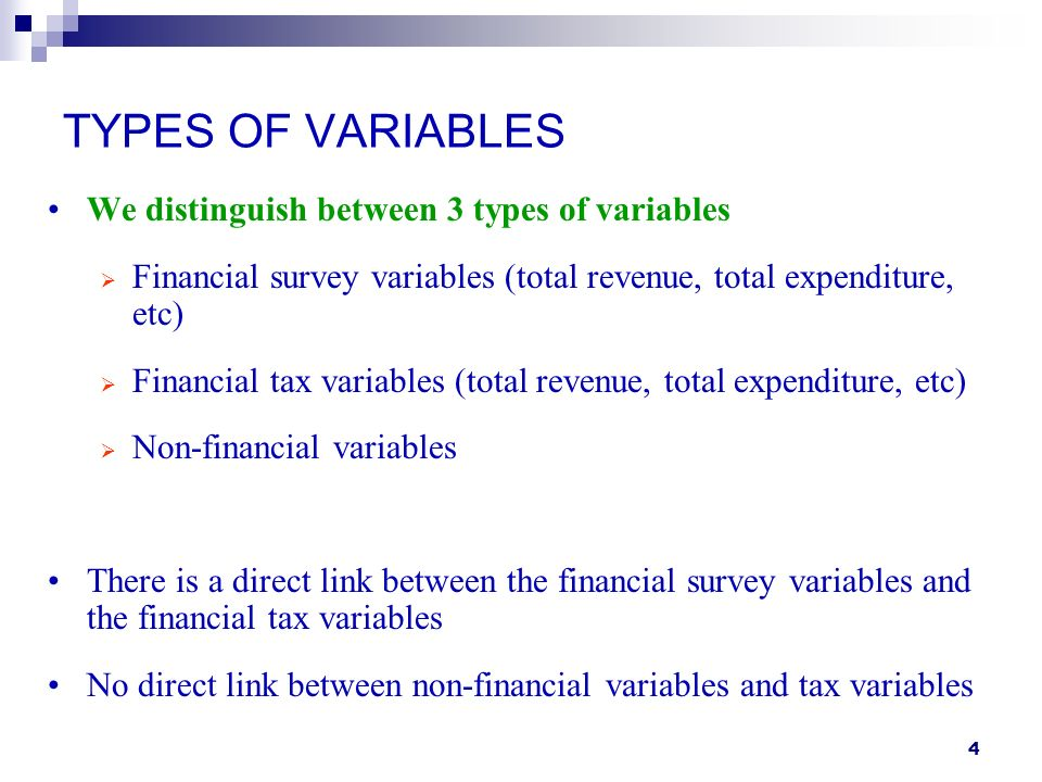 25 WHEN THE TAX VARIABLE IS MISSING In practice, the tax variable is subject to nonresponse and it is imputed Let z be a new variable defined as: x if the tax variable is observed and if the tax variable is missing Inference can be made conditional on z