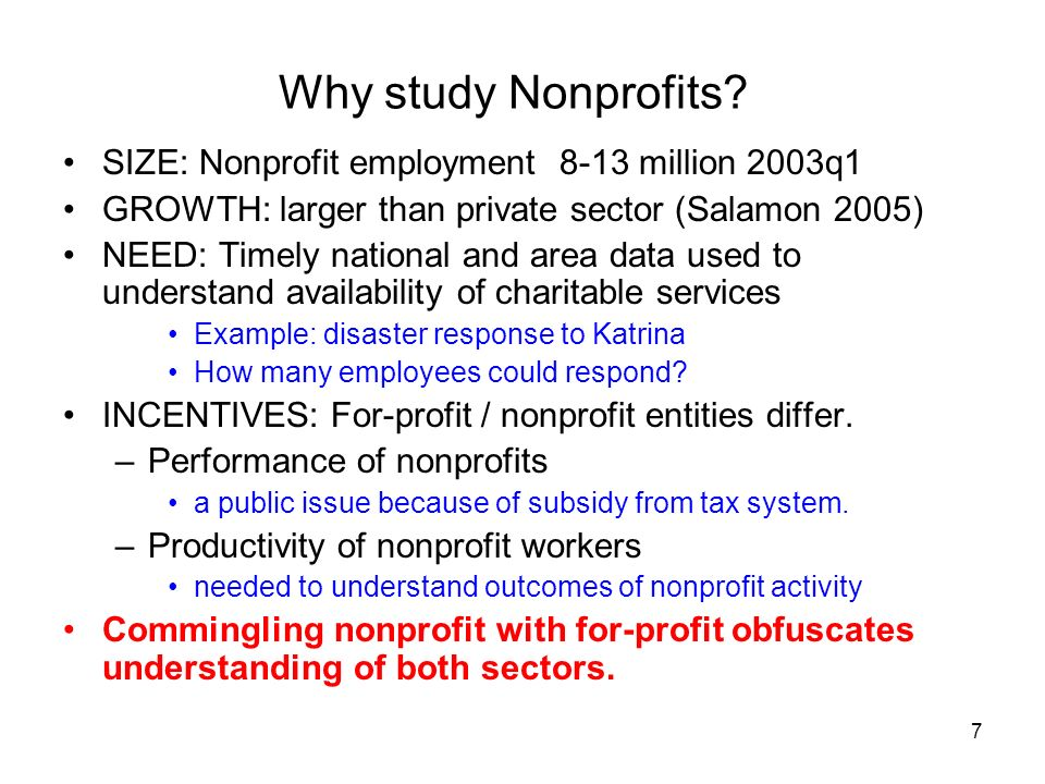 7 Why study Nonprofits.