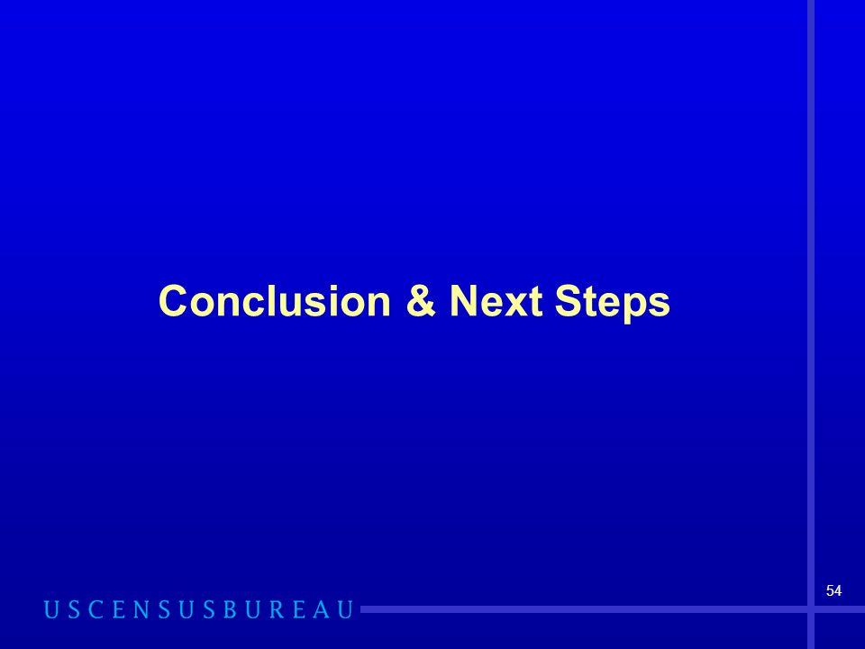 54 Conclusion & Next Steps