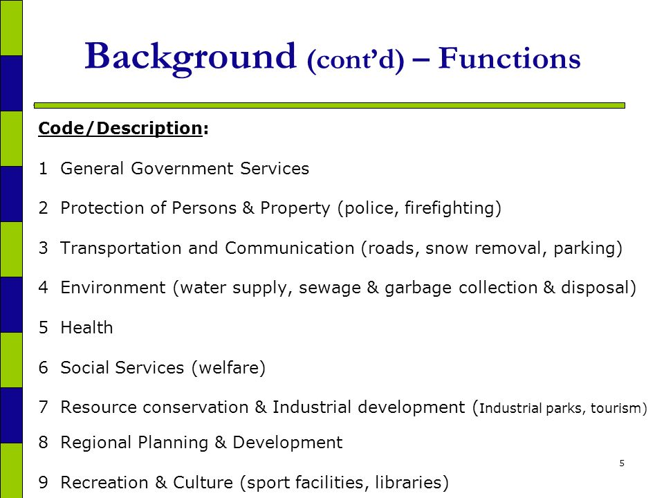 26 Methodology Part 2 - Capital investment by asset, function and province 2.