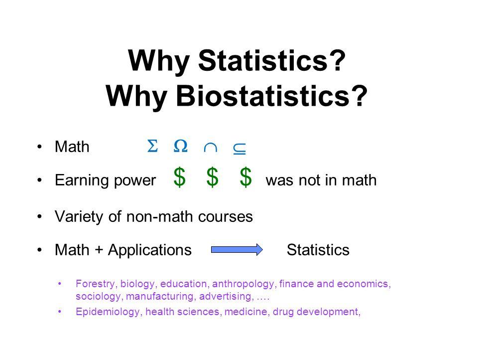 Why Statistics. Why Biostatistics.