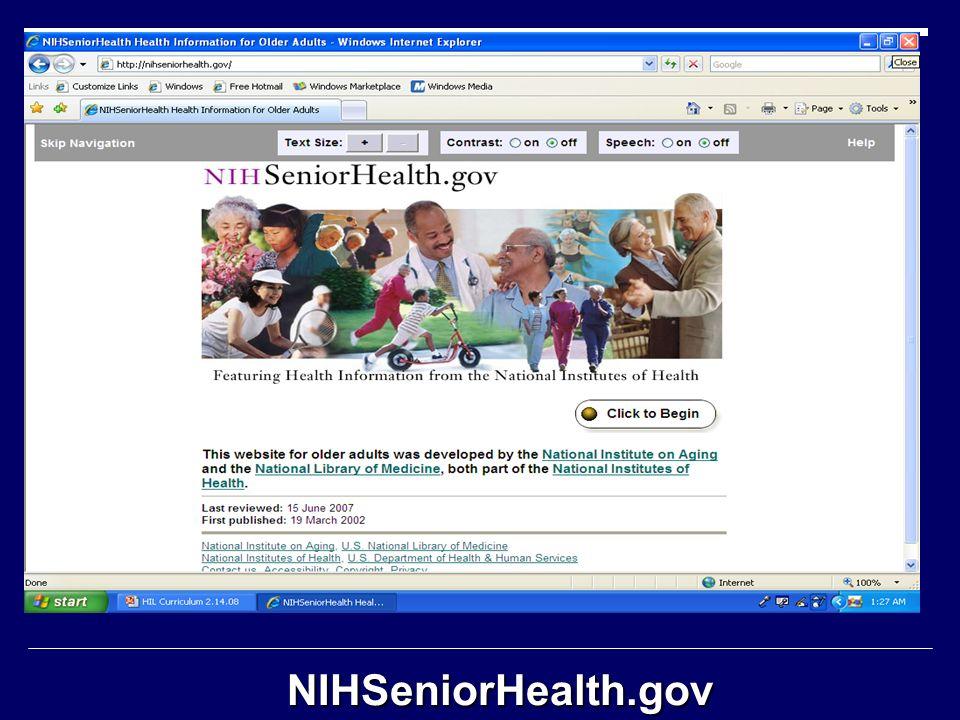 NIHSeniorHealth.gov