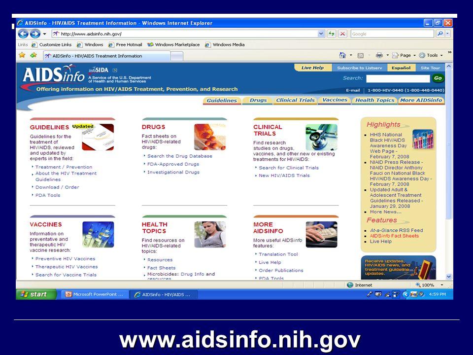www.aidsinfo.nih.gov