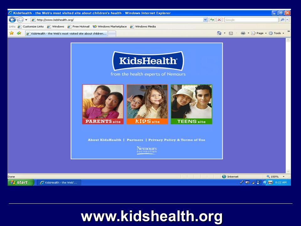 www.kidshealth.org