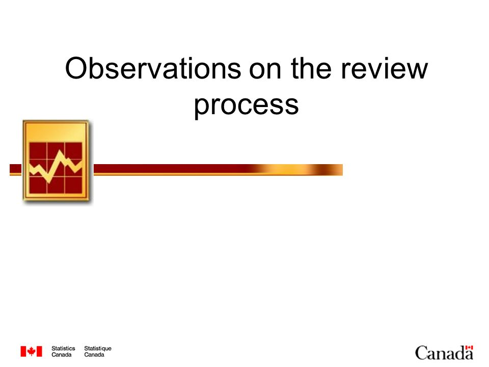 Observations on the review process