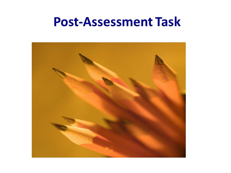 Post-Assessment Task