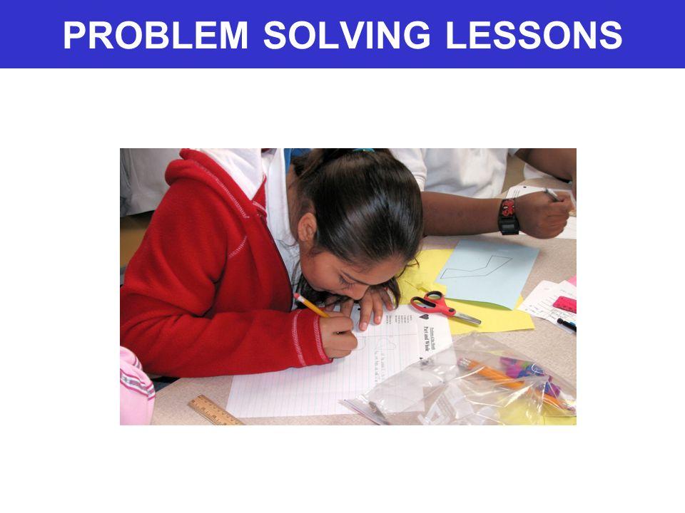 PROBLEM SOLVING LESSONS