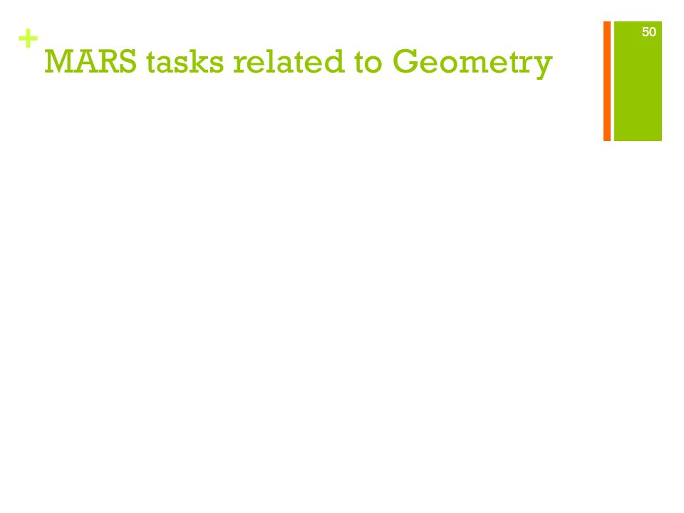 + MARS tasks related to Geometry 50