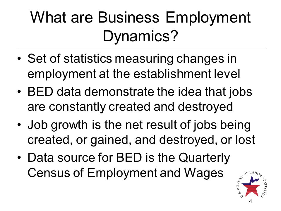 4 What are Business Employment Dynamics.