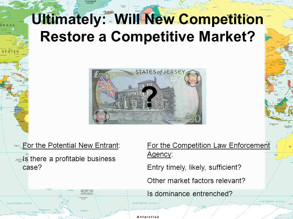 Ultimately: Will New Competition Restore a Competitive Market.
