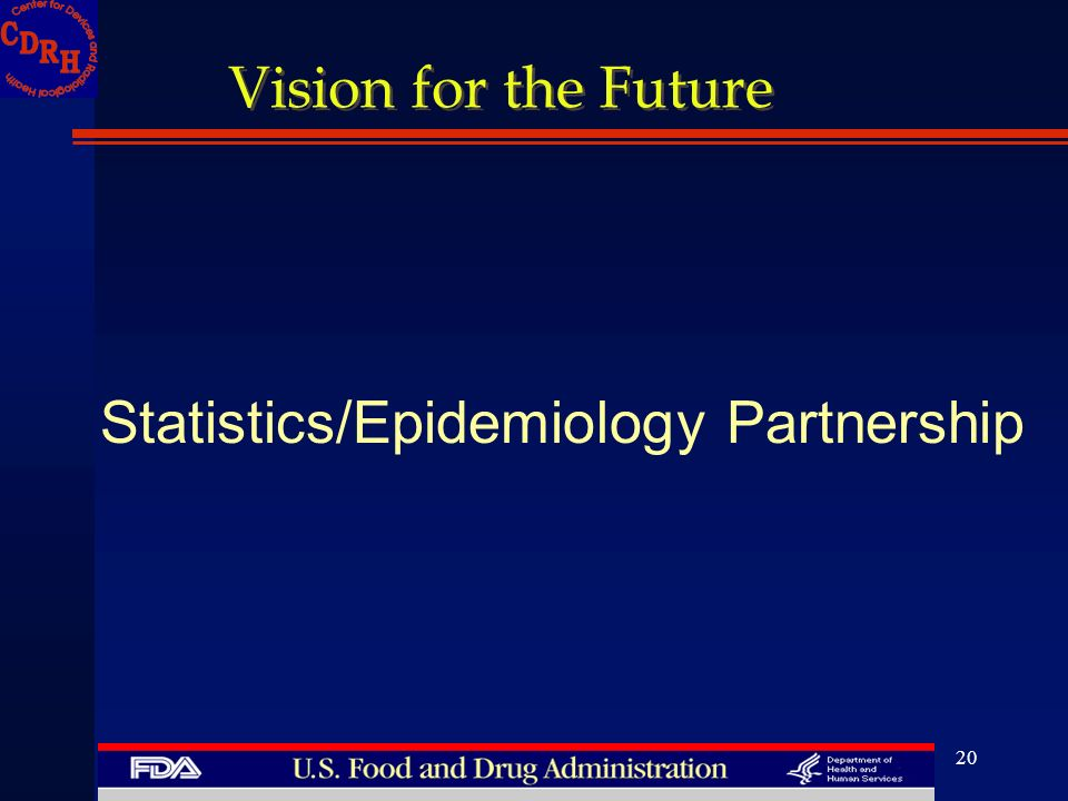 20 Vision for the Future Statistics/Epidemiology Partnership