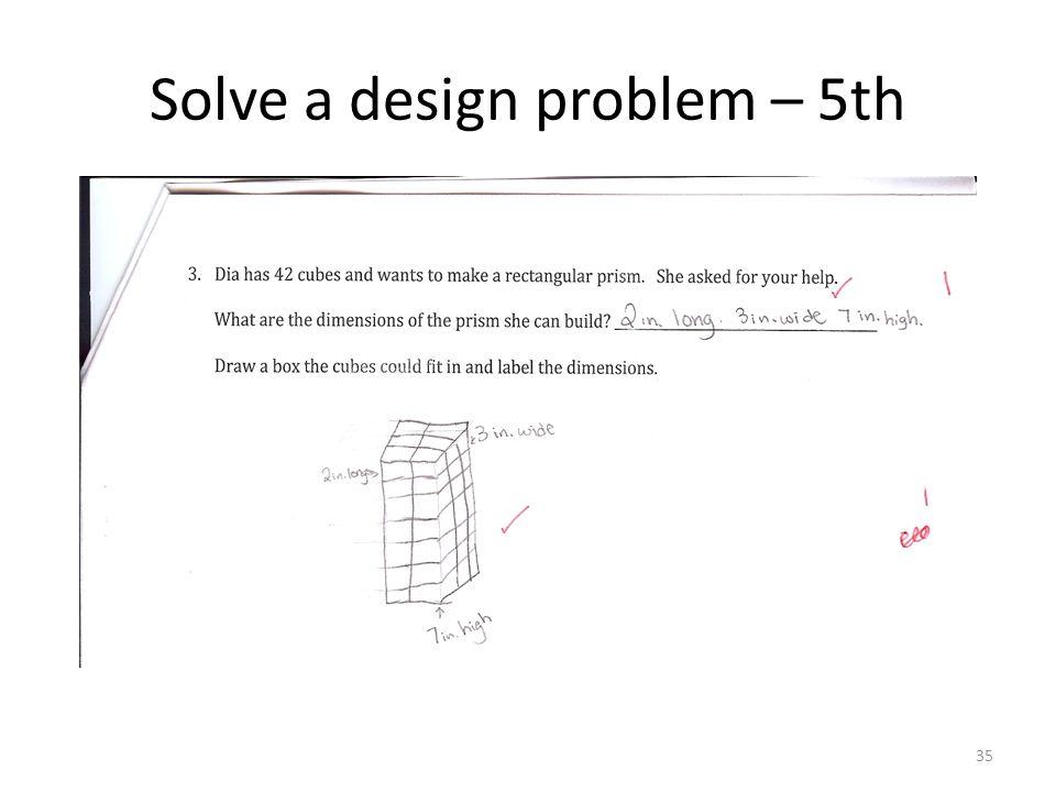 Solve a design problem – 5th 35
