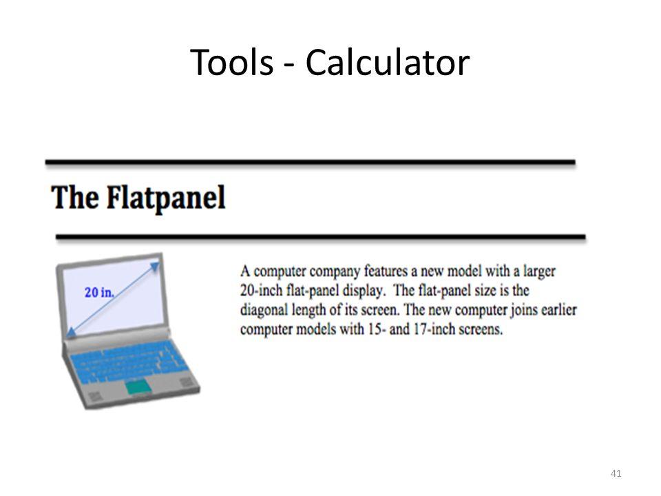 Tools - Calculator 41