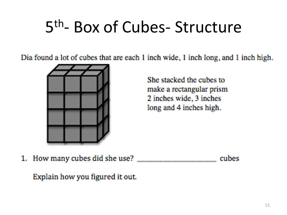 5 th - Box of Cubes- Structure 51