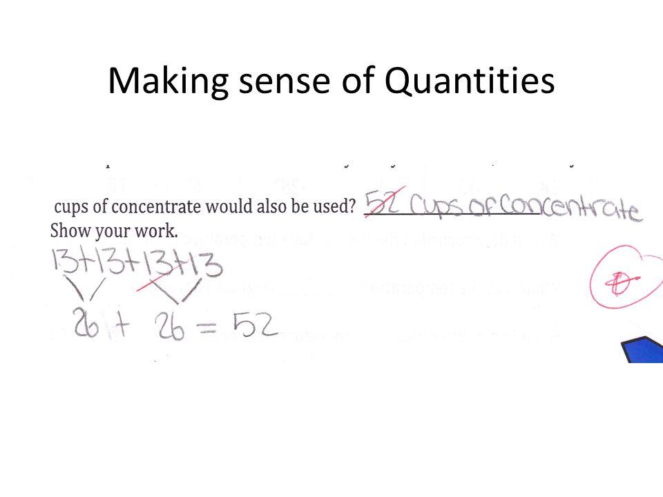 Making sense of Quantities