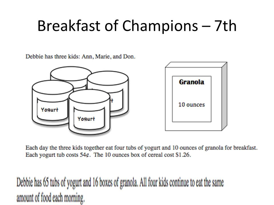 Breakfast of Champions – 7th
