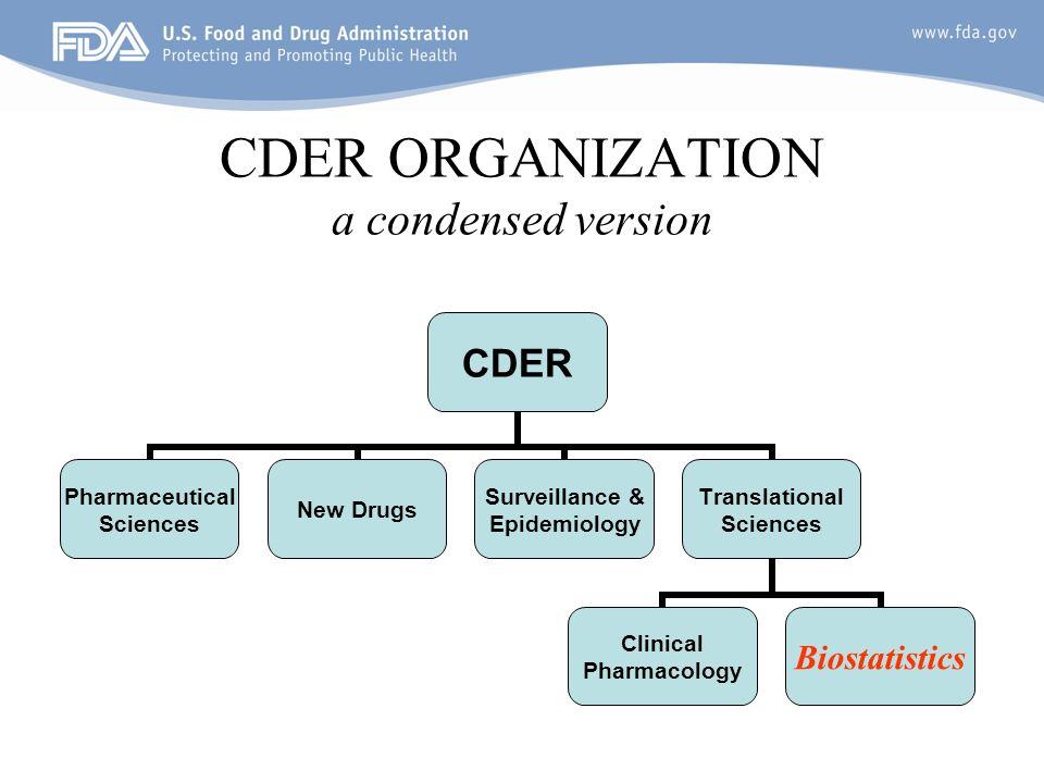 5 CDER ORGANIZATION a condensed version
