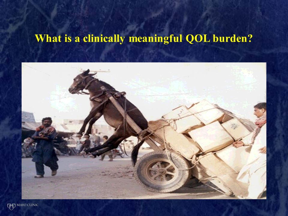 What is a clinically meaningful QOL burden