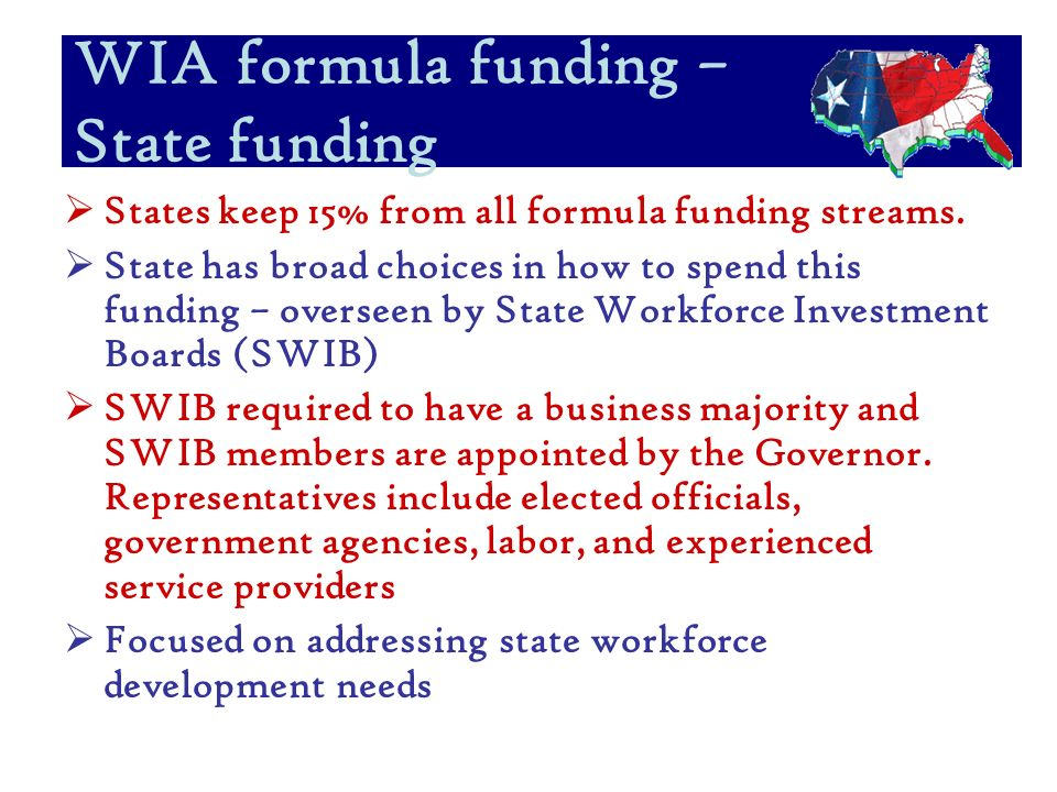 States keep 15% from all formula funding streams.