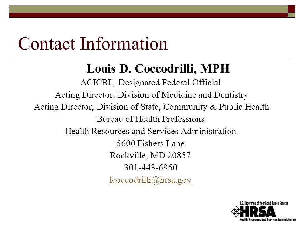 Contact Information Louis D.