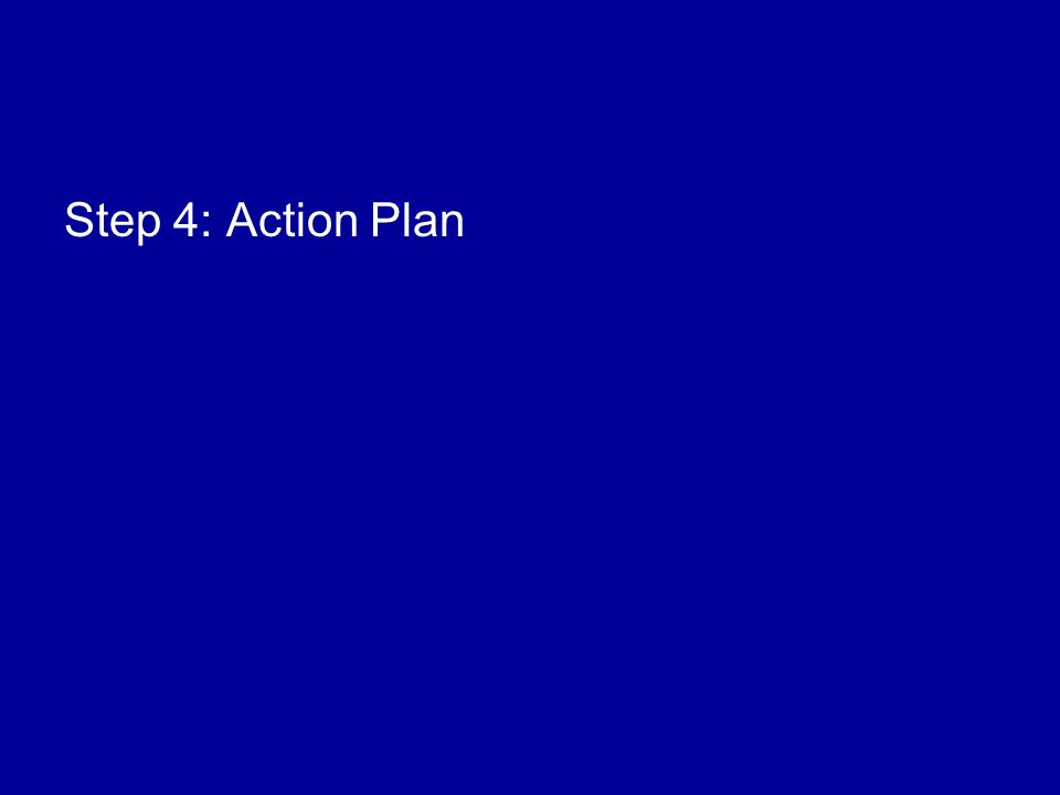 Step 4: Action Plan