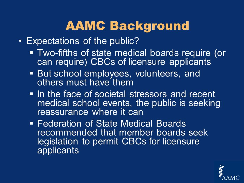AAMC Background Expectations of the public.