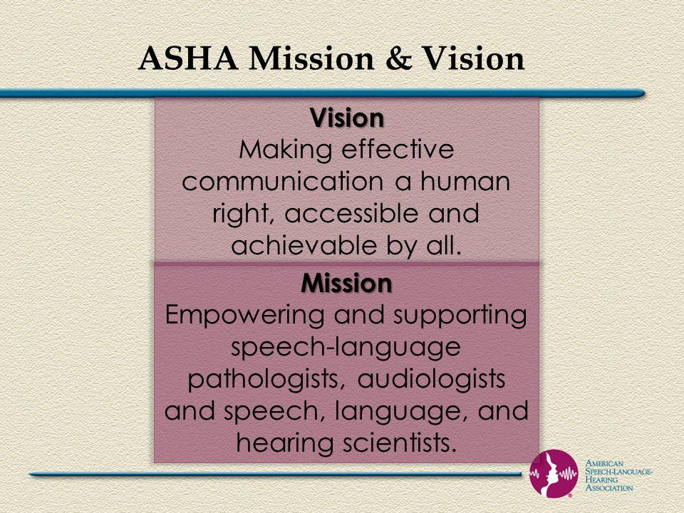 ASHA Mission & Vision