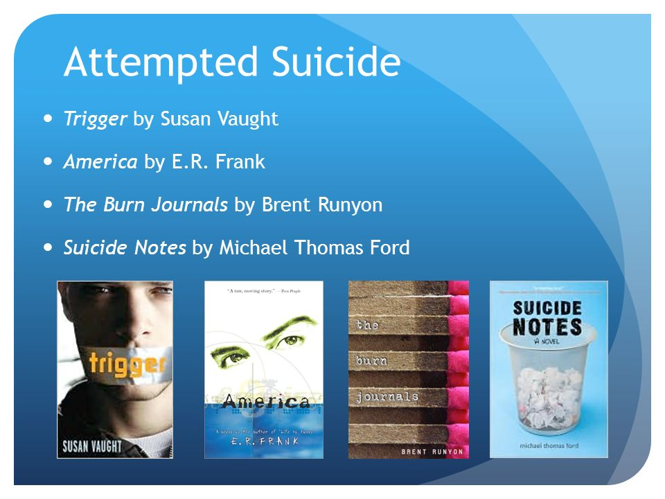 Attempted Suicide Trigger by Susan Vaught America by E.R.