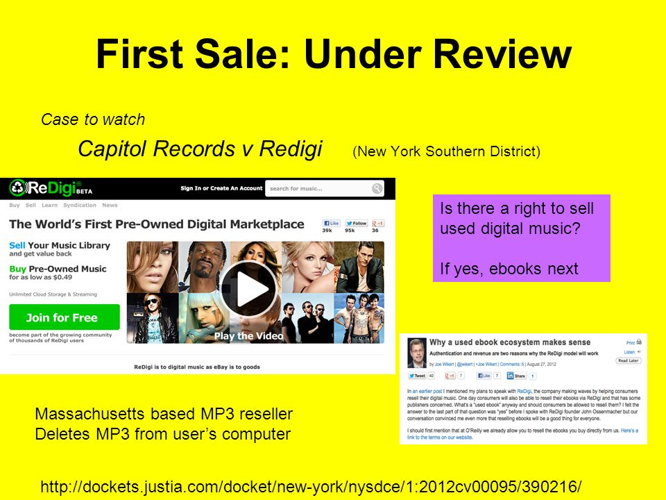 Digital First Sale.Outdated law.