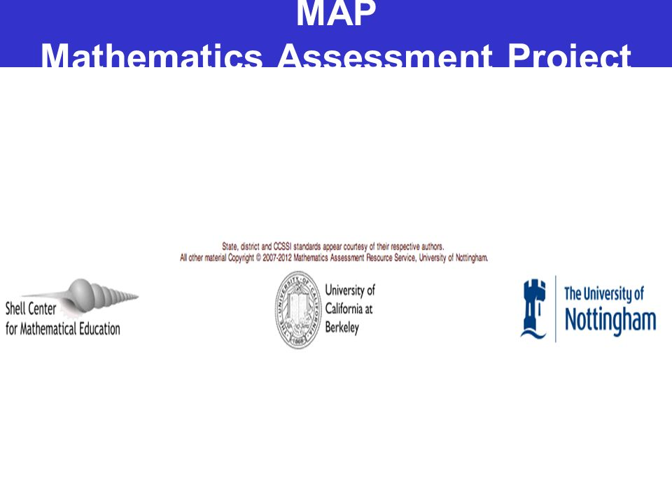 MAP Mathematics Assessment Project