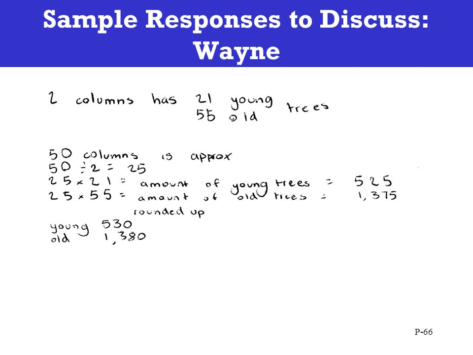 Sample Responses to Discuss: Wayne P-66