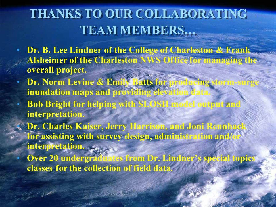 THANKS TO OUR COLLABORATING TEAM MEMBERS… Dr. B.