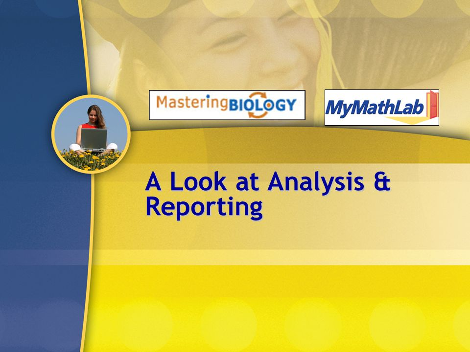 A Look at Analysis & Reporting