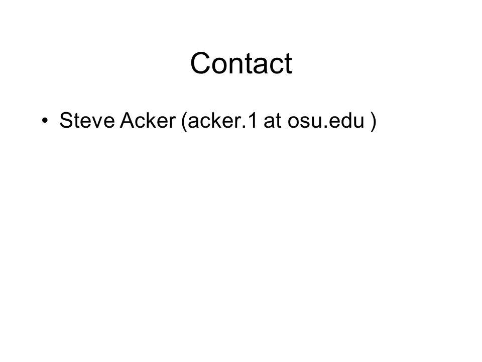 Contact Steve Acker (acker.1 at osu.edu )
