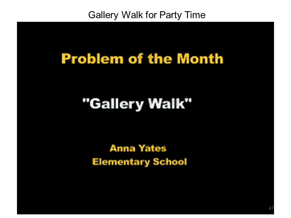 Gallery Walk for Party Time 47