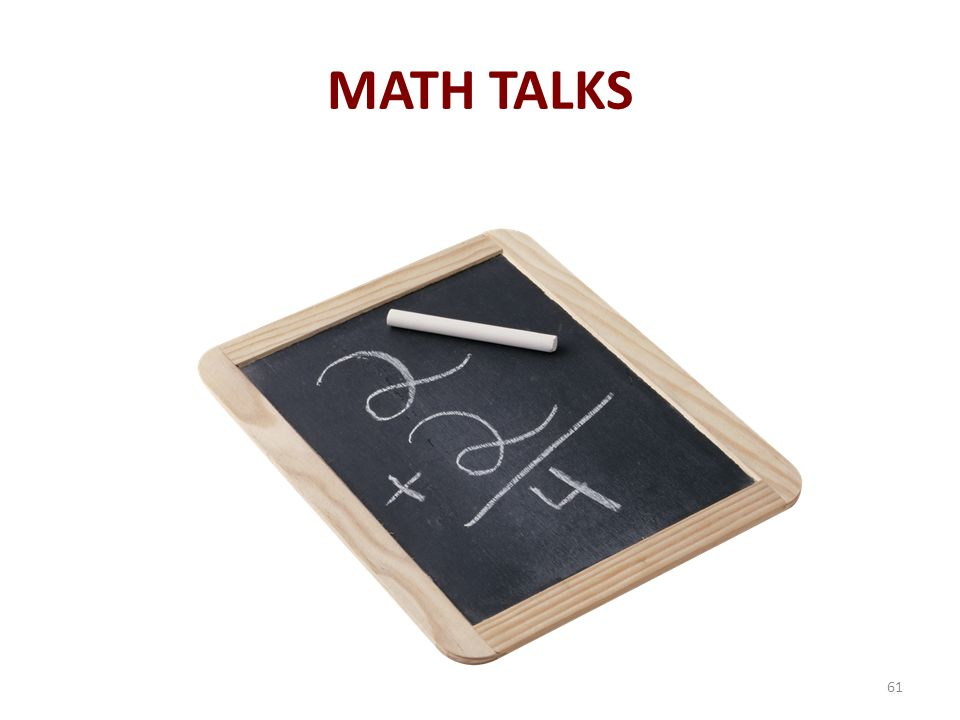 MATH TALKS 61